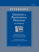 Peterson s Graduate and Professional Programs