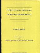International Thesaurus of Refugee Terminology