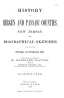 History of Bergen and Passaic Counties  New Jersey