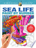 Creative Haven Sea Life Paint By Number Book