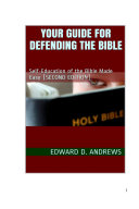 YOUR GUIDE FOR DEFENDING THE BIBLE Pdf/ePub eBook
