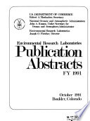 Environmental Research Laboratories Publication Abstracts