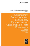 Contingency, Behavioural and Evolutionary Perspectives on Public and Non-Profit Governance Pdf/ePub eBook