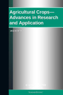 Pdf Agricultural Crops—Advances in Research and Application: 2012 Edition Telecharger