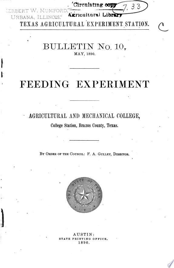 Feeding Experiment
