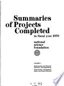 Summaries of Projects Completed