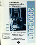 Sustaining Service Learning In Wisconsin 2000 2001