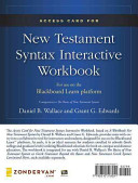 Access Card for New Testament Syntax Interactive Workbook