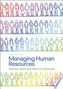 Managing Human Resources Book