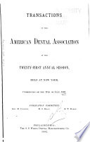 Transactions of the American Dental Association at Its     Annual Session