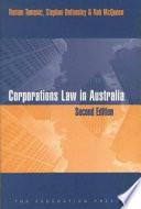 Corporations Law in Australia
