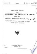 Semiannual Report of the Architect of the Capitol for the Period     Pursuant to Section 105 b   Public Law 454  Eighty eighth Congress