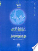 Monthly Bulletin Of Statistics March 2010