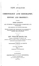 A New Analysis of Chronology and Geography  History and Prophecy  Chronology and geography