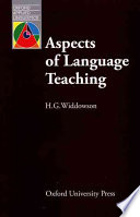 Aspects Of Language Teaching