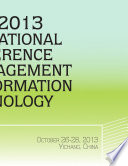 The 2013 International Conference on Management and Information Technology