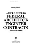 A User S Guide To Federal Architect Engineer Contracts Book PDF
