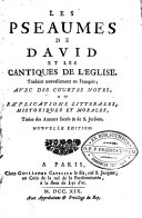 Les pseaumes de David et les cantiques de l'église