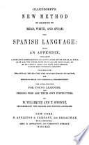 Ollendorff s New Method of Learning to Read  Write  and Speak the Spanish Language Book PDF