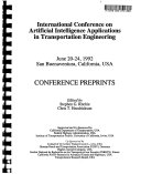 International Conference on Artificial Intelligence Applications in Transportation Engineering Book