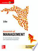 Essentials of Management: An International, Innovation, and Leadership Perspective