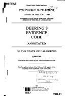 Deering s California Codes