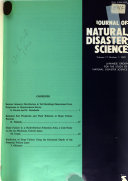 Journal of Natural Disaster Science