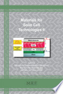 Materials for Solar Cell Technologies II