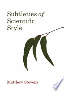 Subtleties Of Scientific Style Book PDF