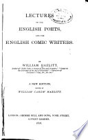 Lectures on the English Poets and the English Comic Writers