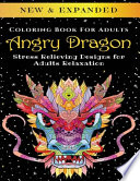 Angry Dragon - Adult Coloring Book