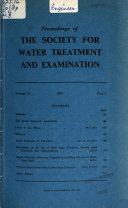 Water Treatment and Examination
