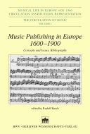 Music Publishing in Europe 1600 1900