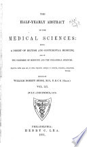 The Half yearly Abstract of the Medical Sciences Book