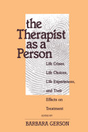 The Therapist as a Person Book