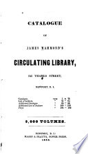 Catalogue of James Hammond s Circulating Library  Newport  R I