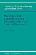 Manifolds With Singularities And The Adams Novikov Spectral Sequence