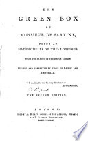 The Green Box of Monsieur de Sartine