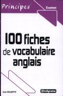 100 fiches de vocabulaire anglais