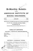 Bi-monthly Bulletin of the American Institute of Mining Engineers