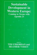 Sustainable Development in Western Europe