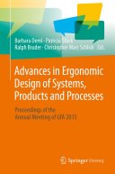 Pdf Advances in Ergonomic Design of Systems, Products and Processes Telecharger
