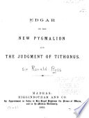 Edgar  Or  The New Pygmalion Book