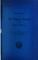 Biennial Report of the Adjutant General