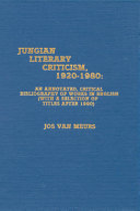 Jungian Literary Criticism  1920 1980