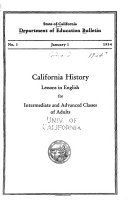 State Of California Department Of Education Bulletin