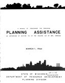 A Manual of Procedures for Procuring Planning Assistance as Authorized by Section 701 of the Housing Act of 1954, Amended