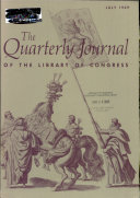 The Quarterly Journal Of The Library Of Congress