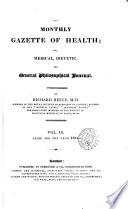 The Monthly Gazette Of Health Book