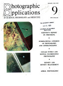 Photographic Applications in Science  Technology and Medicine